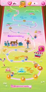 Candy Crush Saga - карта игры с выбором уровней